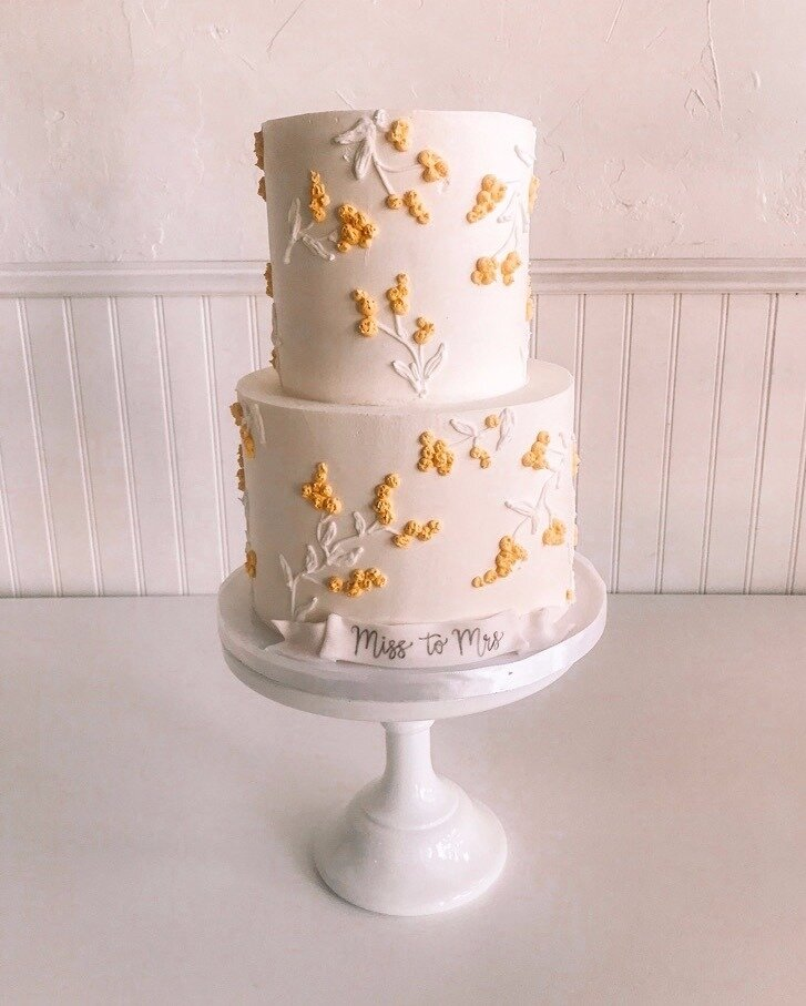 Miss to Mrs. Tiered Bridal Cake from The SweetSide