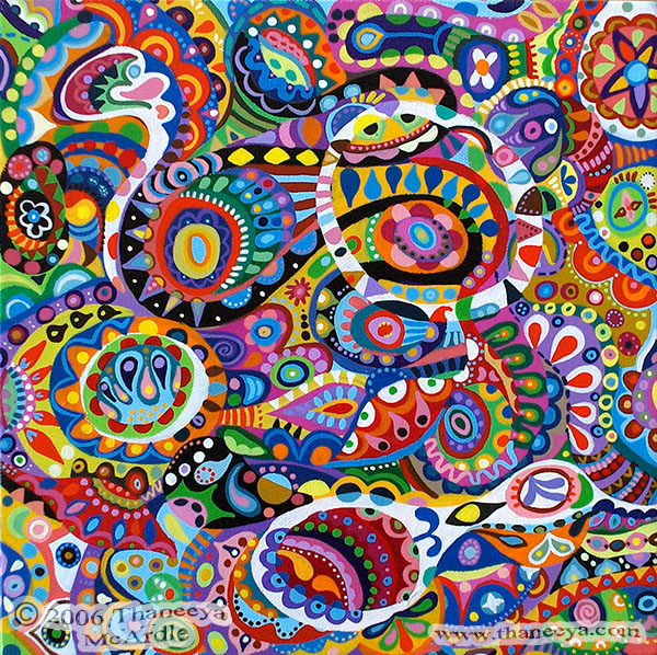 colorful abstract art detailed