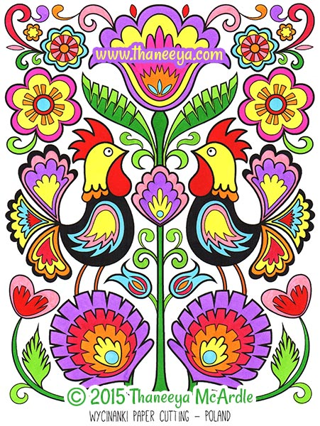 Folk Art Coloring Books : coloring, books, Coloring, Thaneeya, McArdle, Thaneeya.com