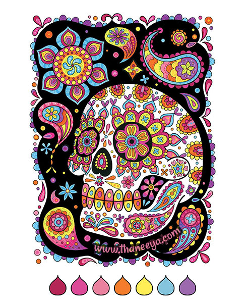 skulls coloring pages # 80