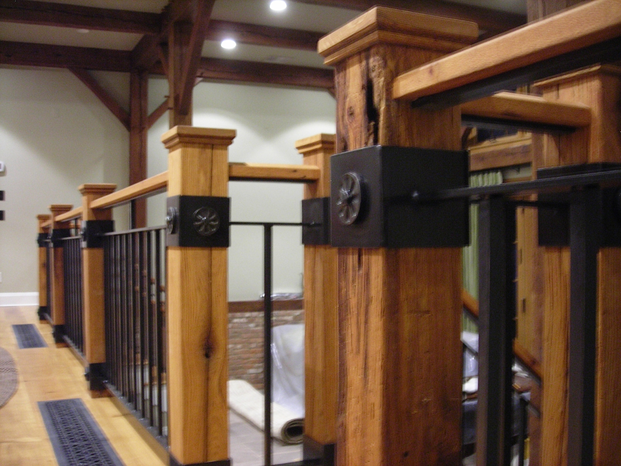 Interior Railings — Amaral Industries Inc | Wood And Metal Handrail | Interior | Iron Railing | Architectural Modern Wood Stair | Stainless Steel | Traditional