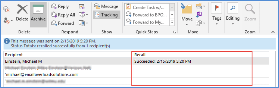 How to (Try To) Use the Outlook Recall Feature — Email Overload Solutions