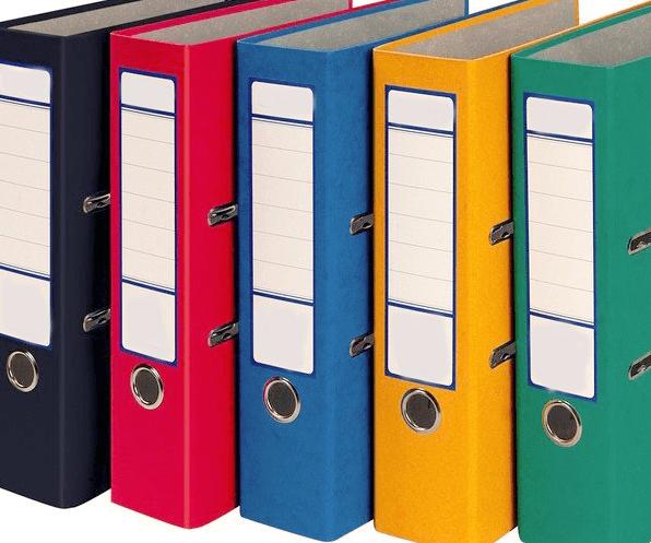 binder folders office recycling
