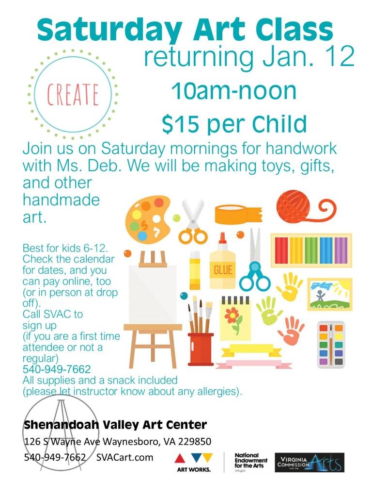 Children's Classes — Shenandoah Valley Art Center