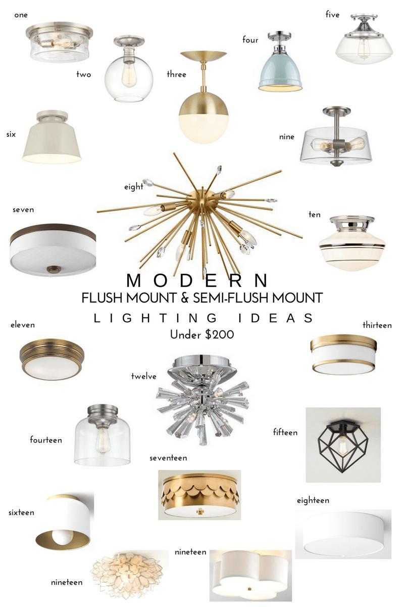 semi flush mount lighting ideas