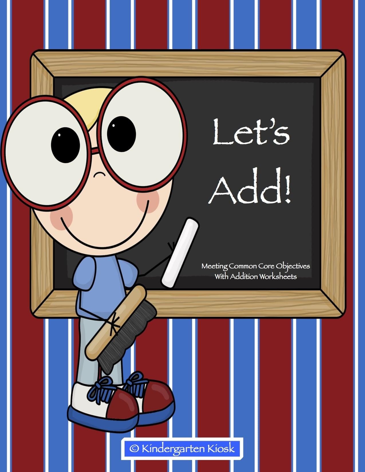 Addition and Subtraction Fluency Worksheets — Kindergarten Kiosk [ 1294 x 1000 Pixel ]