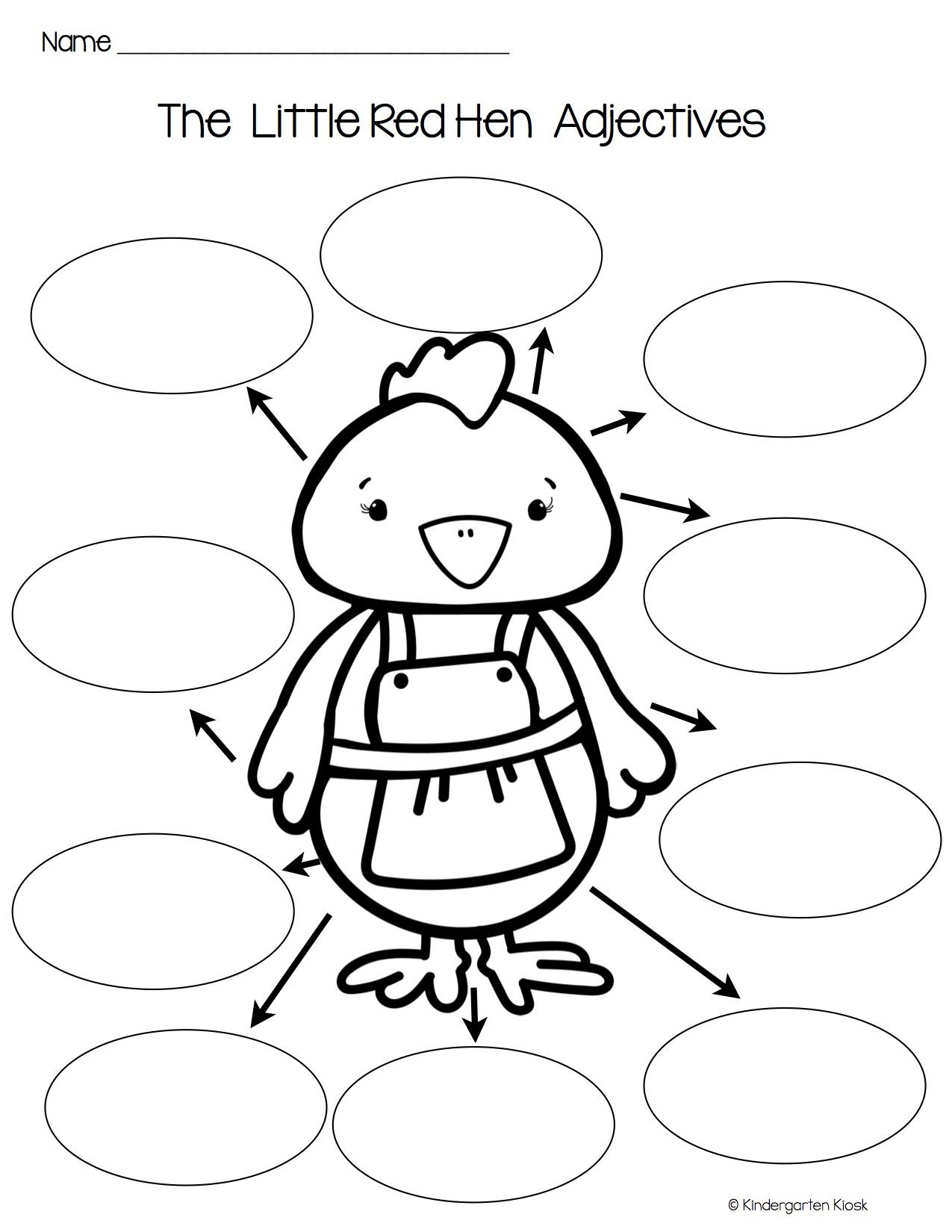 Little Red Hen Independent Writing Practice — Kindergarten
