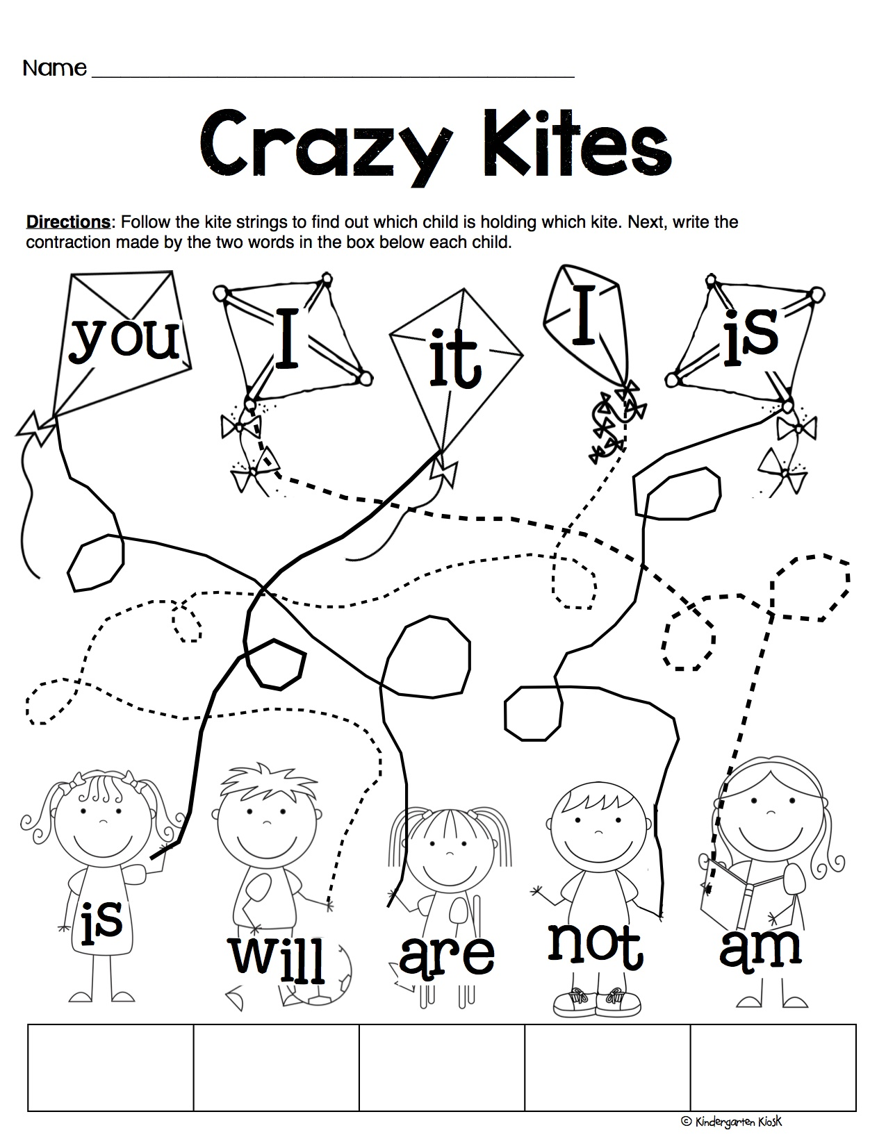 Phonics Prep: Contractions Worksheets — Kindergarten Kiosk