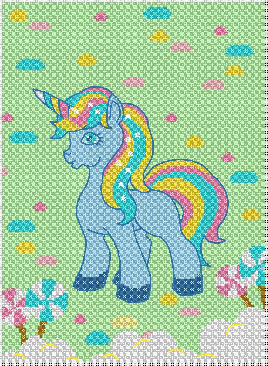 Free Printable Unicorn Cross Stitch Patterns : printable, unicorn, cross, stitch, patterns, Printable, Unicorn, Sewing, Pattern