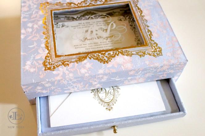 Boxed Wedding Invitation Lela New York Luxury