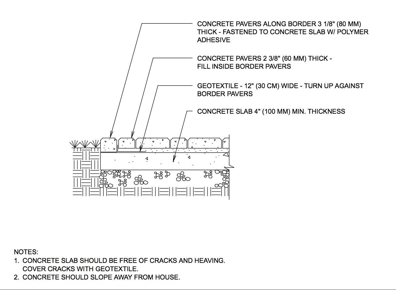 patio overlay on concrete slab