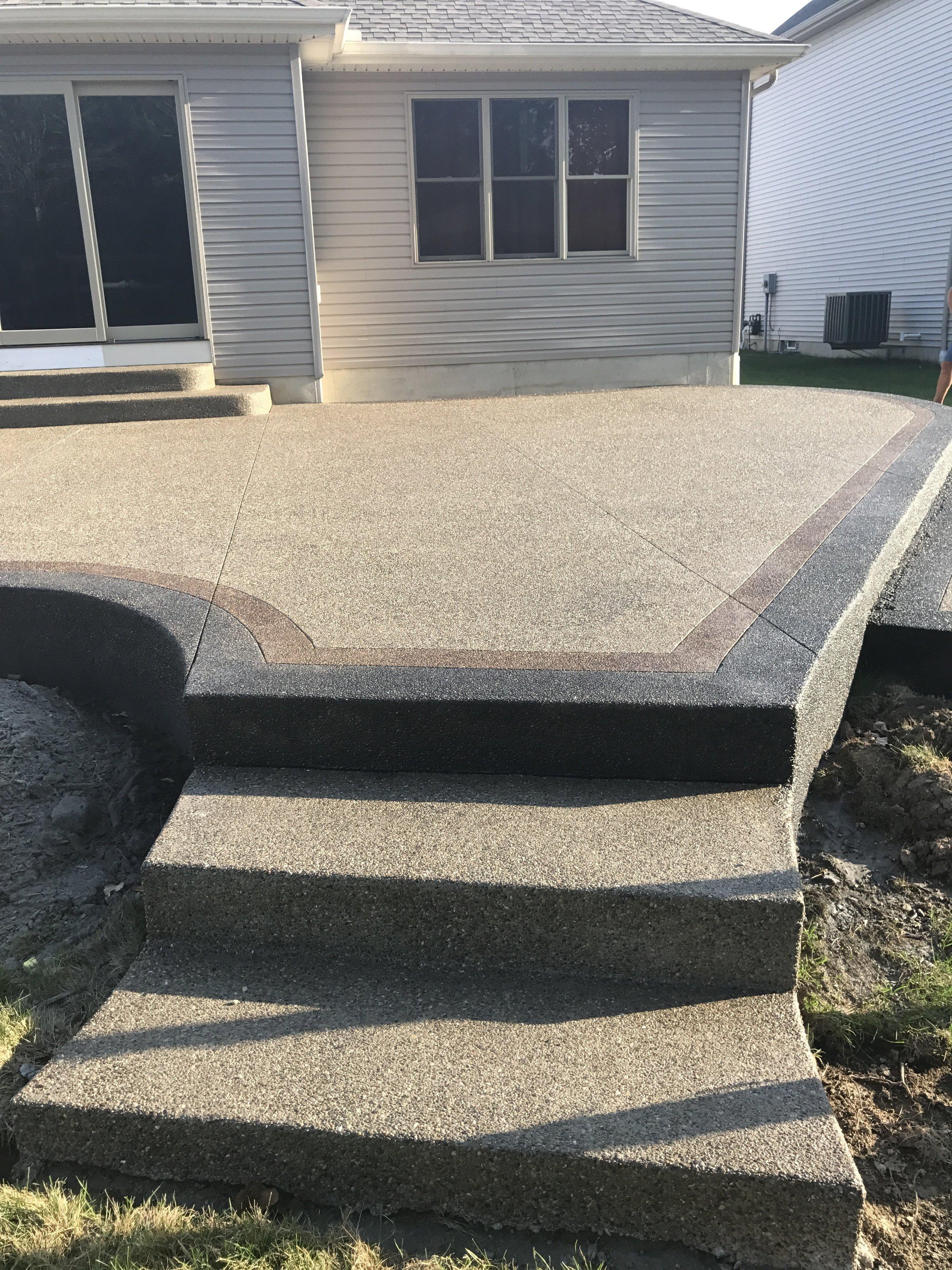 decorative patio steps