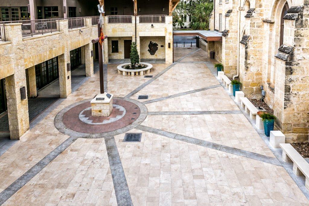 tile stone design installation