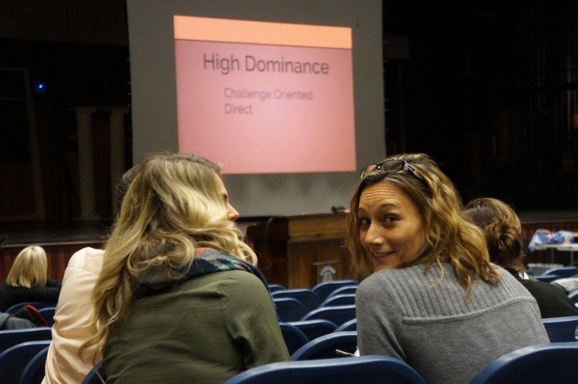 Lockport High School teachers and counselors going through an Indigo workshop.