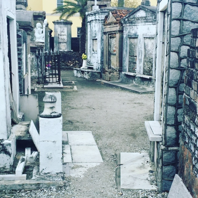 Inside the cemetery