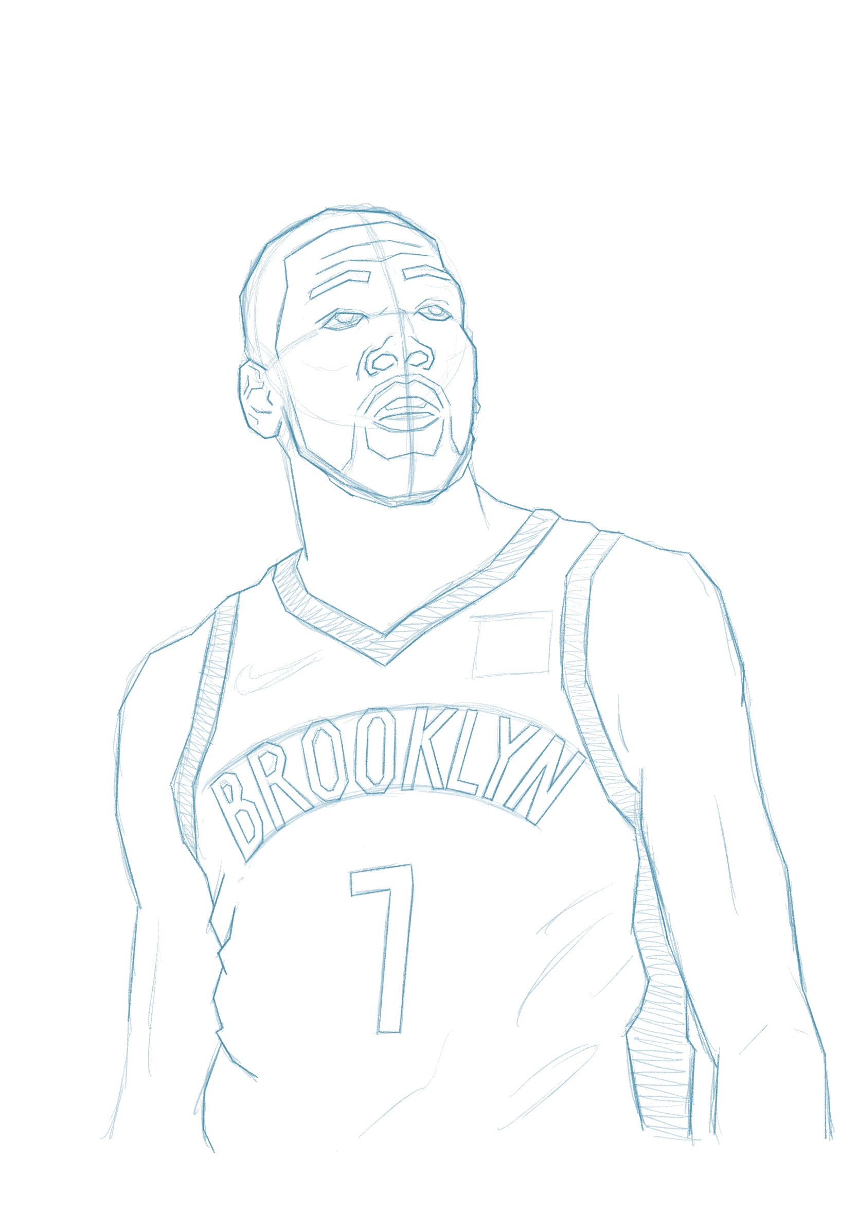 How To Draw Kevin Durant : kevin, durant, Kevin, Durant, Illustration, Scottsmoker