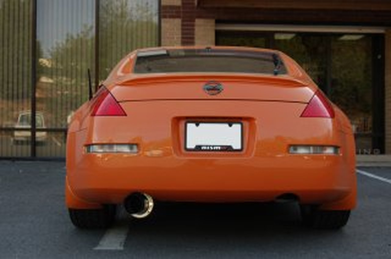 aam competition 3 in single exit exhaust 350z g35 full lock drift shop