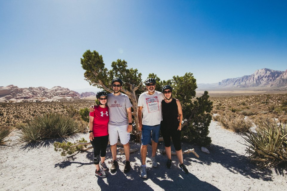 Just the four of us in Red Rock Canyon, Las Vegas, Nevada.