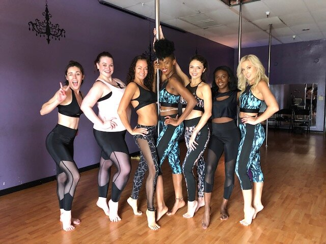 What is a Pole Dance Class at Violet Flame? — Violet Flame Studios