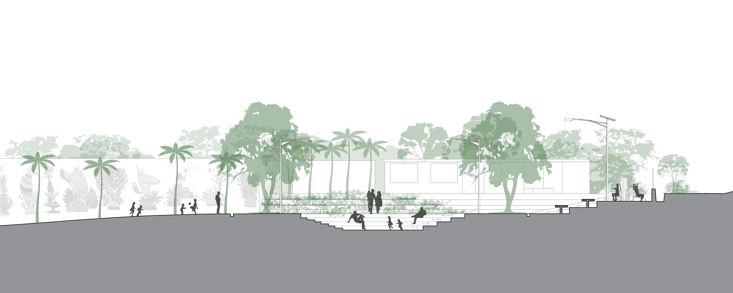 a public space in an informal