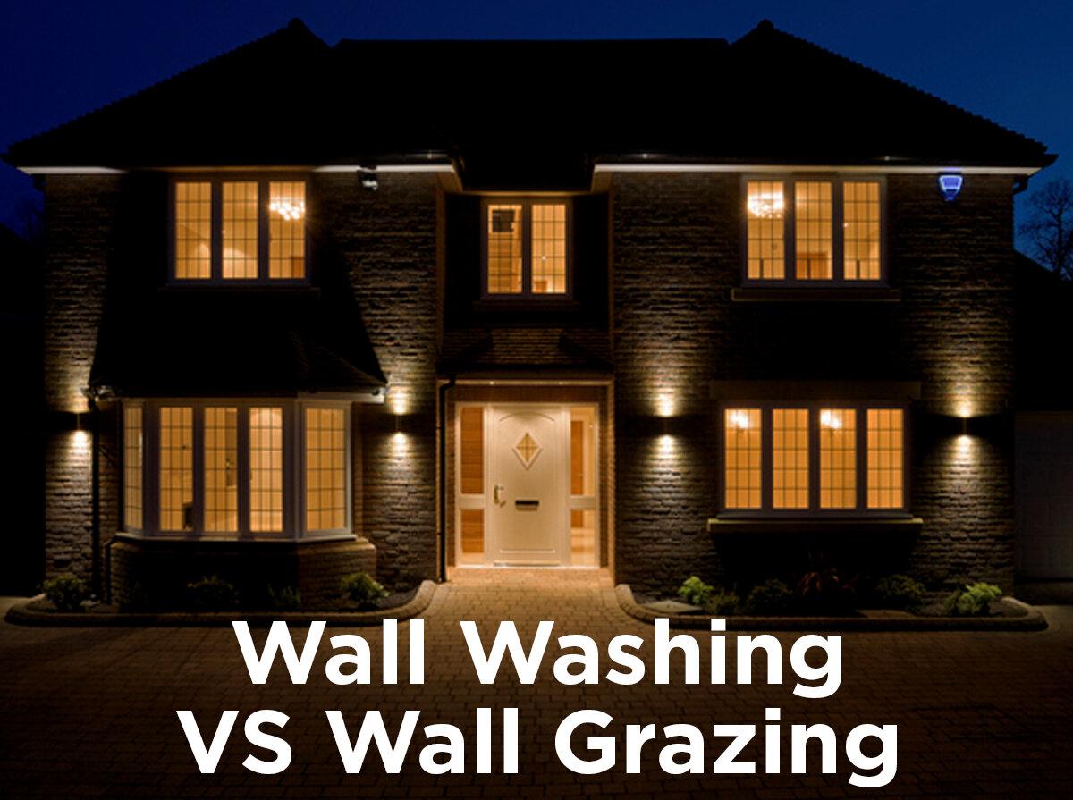 accent lighting wall washing vs wall