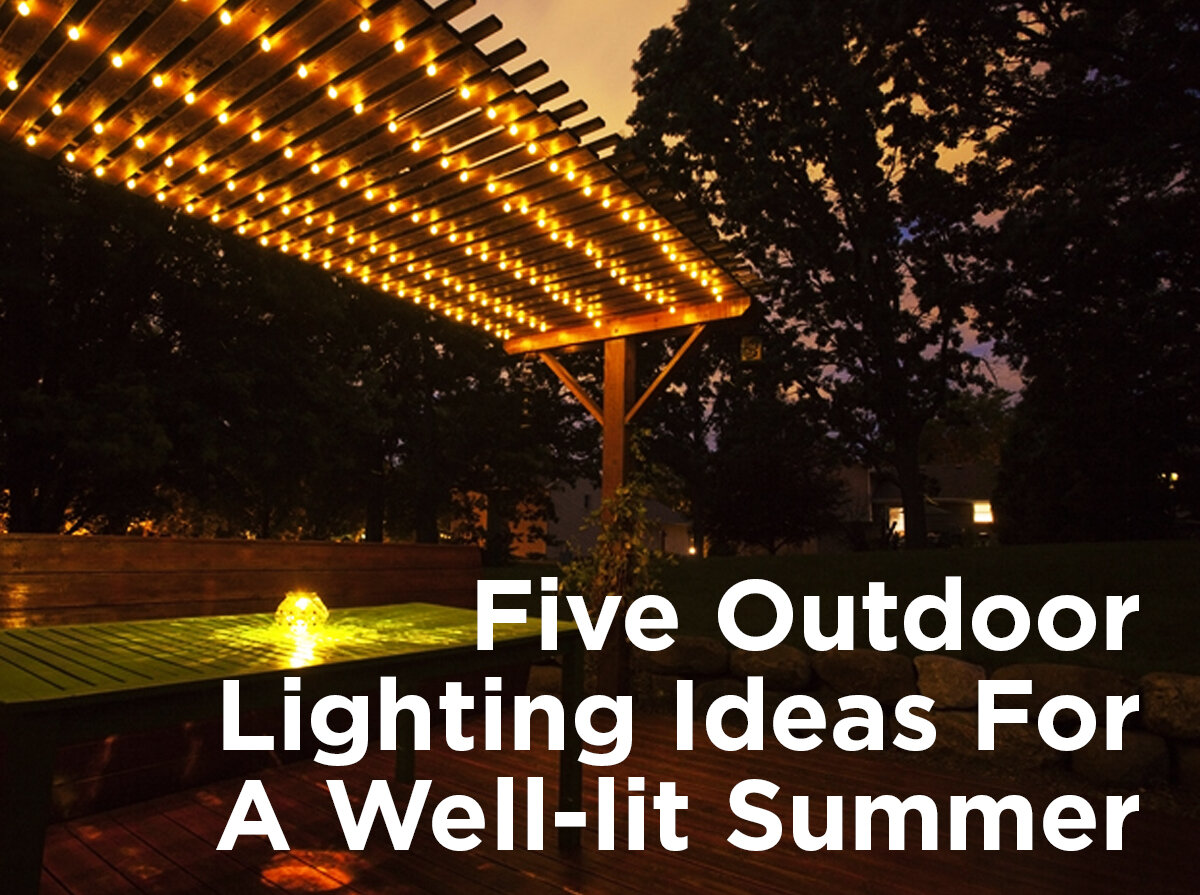 five outdoor lighting ideas for a well