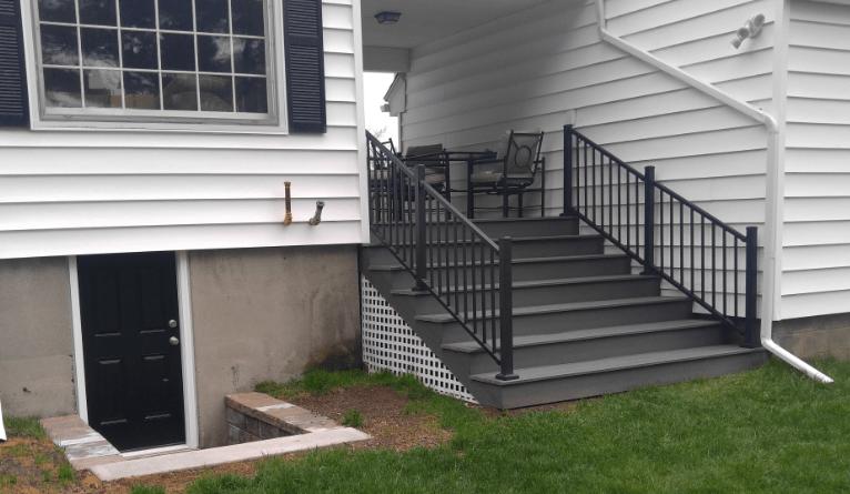 Auburn Ma Composite Deck Breezeway Auburn Ma — Core Remodeling | Composite Exterior Stair Treads | Blocking | Indoor | Deck Trex | Picture Framing | Patio