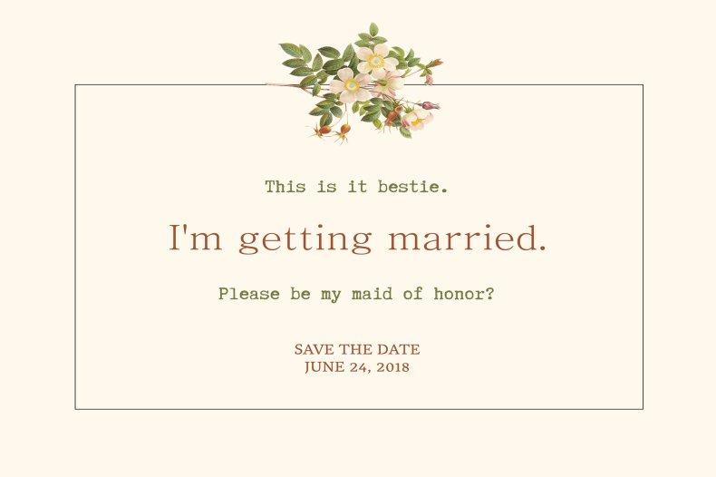 Bridesmaid invitation save the date