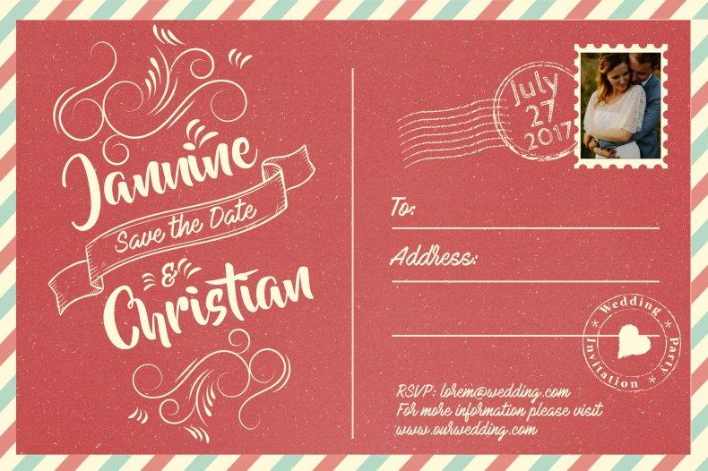 Save the date vintage invitation