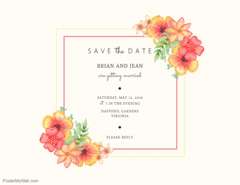 Modern save the date formal invite