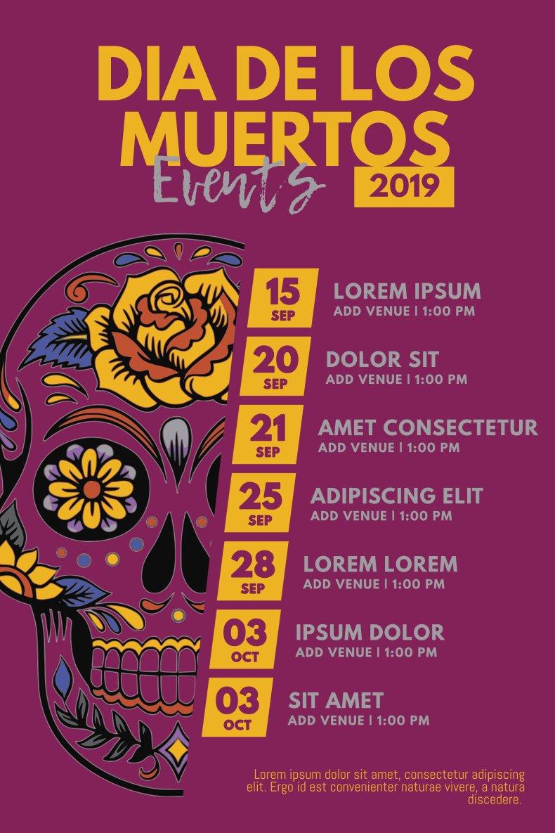 Dia de los muertos event schedule