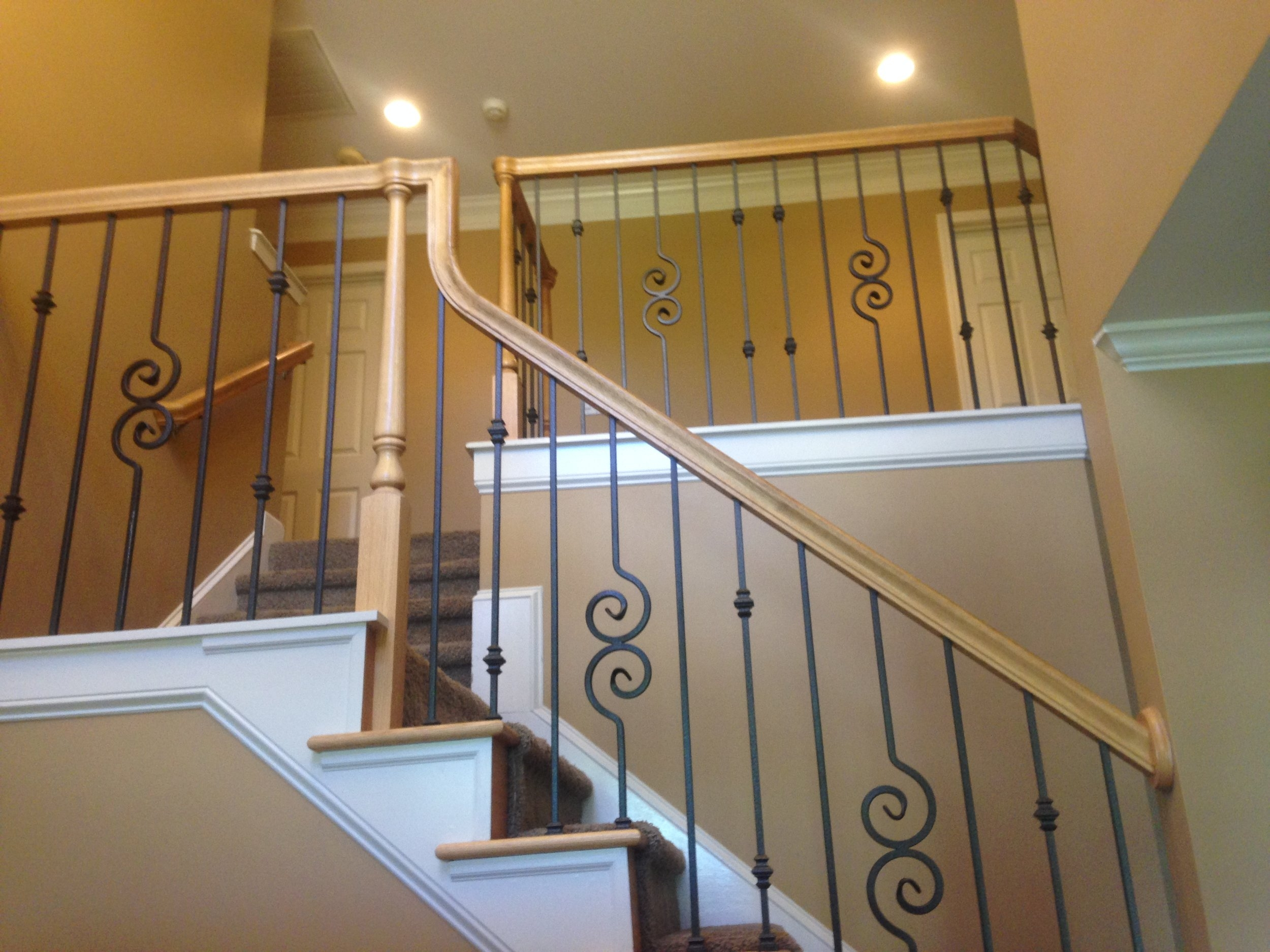 Master Fabrication — Wood Stair Handrails Fittings | Iron Railing With Wood Handrail | Stair Systems | Stair Parts | Metal | Stair | Staircase