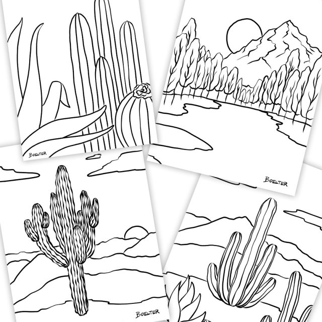 23 Coloring Pages (Download and Print-at-home)  Boelter Design Co.