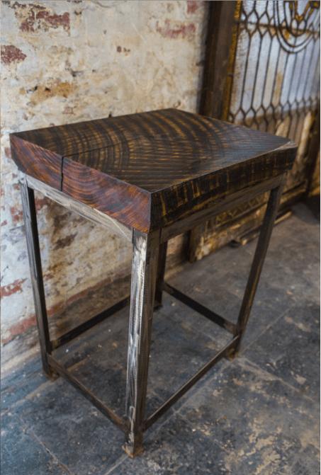 poplar slab end table union artisan
