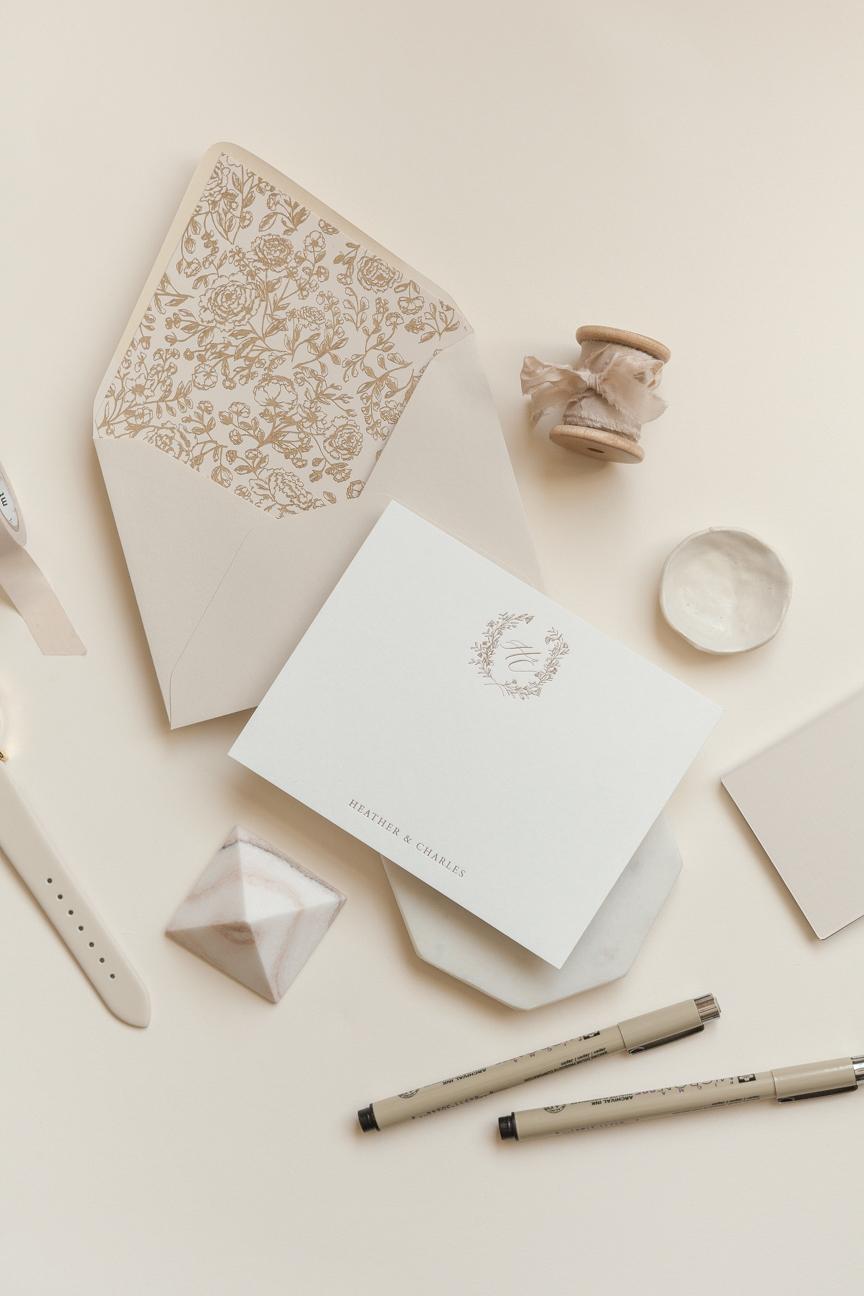 heirloom personalized stationery written