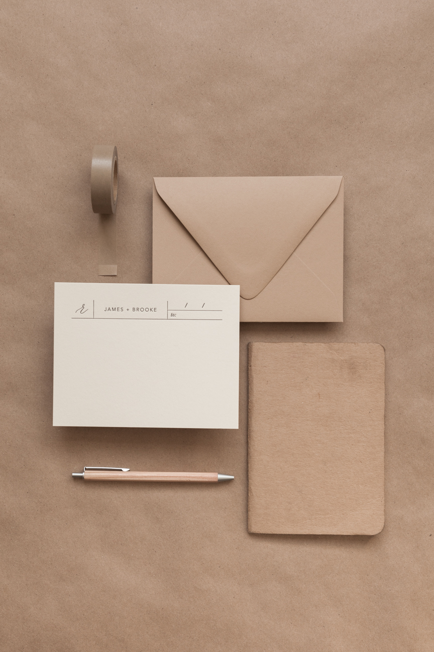 voyageur personalized stationery written