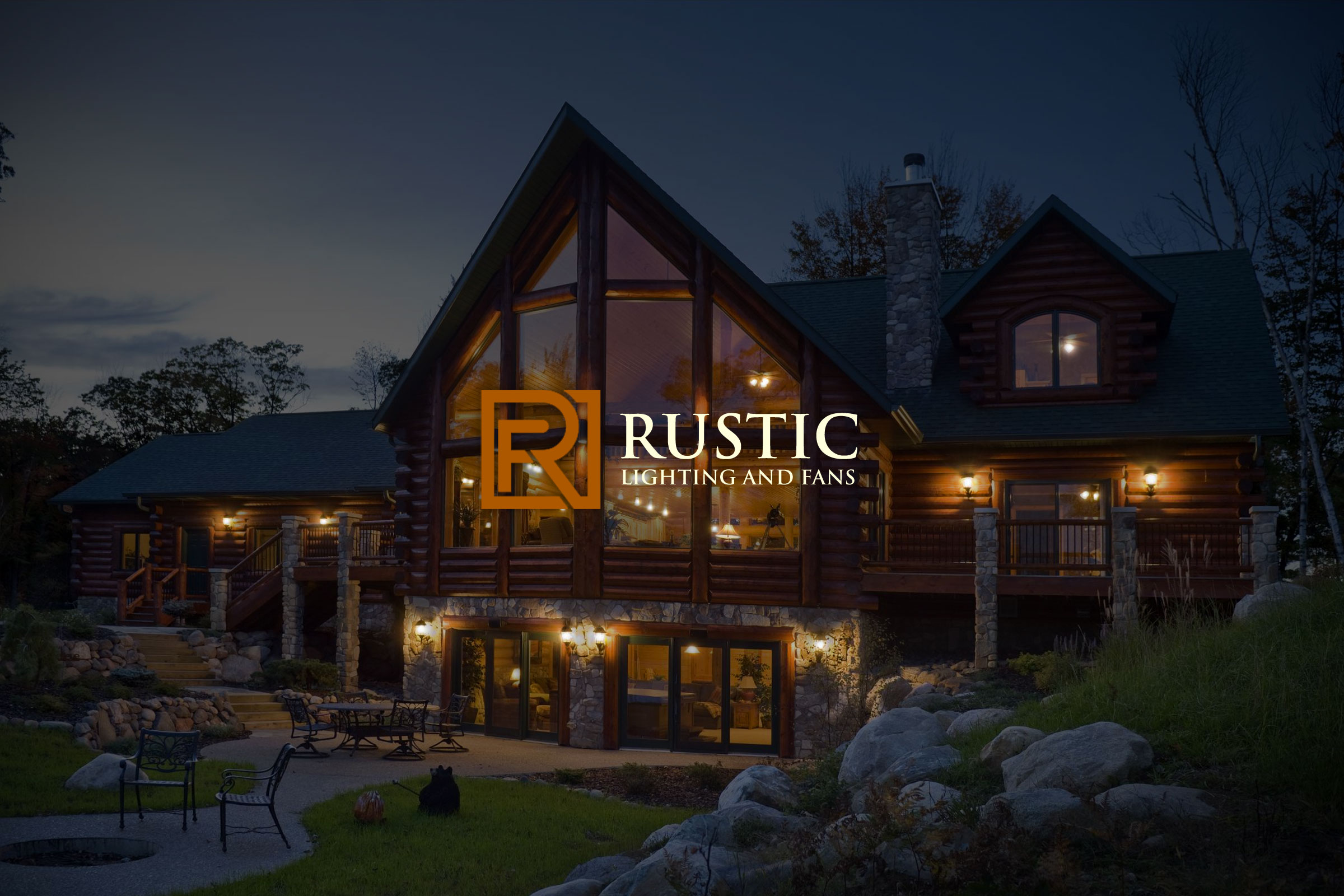 rustic lighting fans tyson sterling