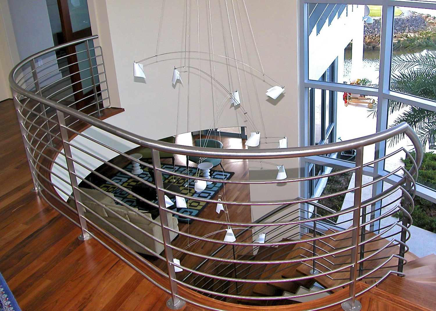 Custom Staircases And Railings — Sunmaster Of Naples | Metal Railing Designs Stairs | Rot Iron Staircase | Step | Luxury | Creative Outdoor Stair | Curved Railing
