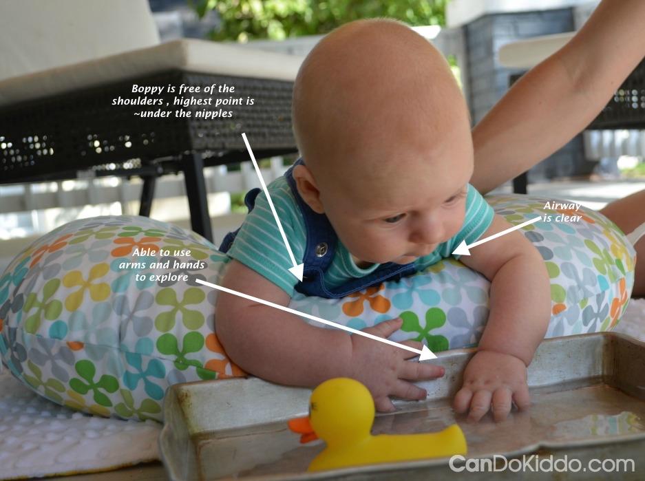 tummy time on boppy lounger online