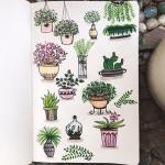 Bullet Journal Plant Doodles Sweet Planit