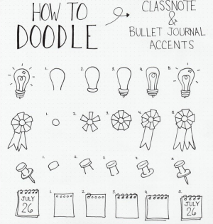 doodles draw doodle easy simple class notes notebook journal date bullet put bujo note anyone steps sweet