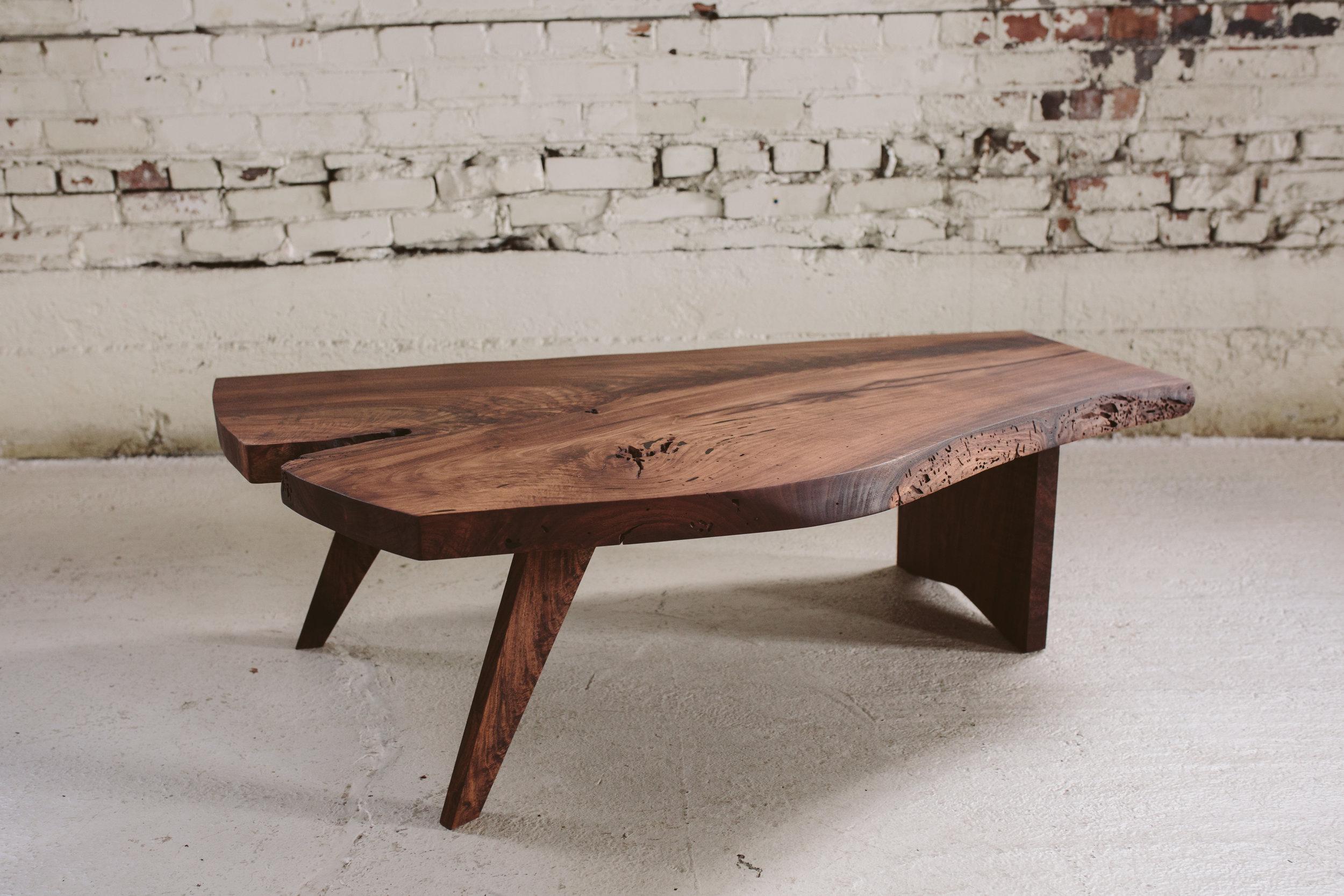 live edge coffee table nakashima style stockton heritage