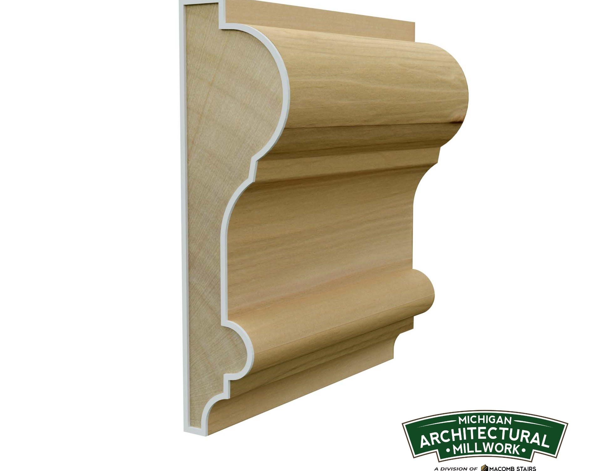 Ma528 3 3 4 Chair Rail — Macomb Stairs | Chair Rail On Stairs | Double | Traditional | Stained Wood | Remodeling | Wainscoting