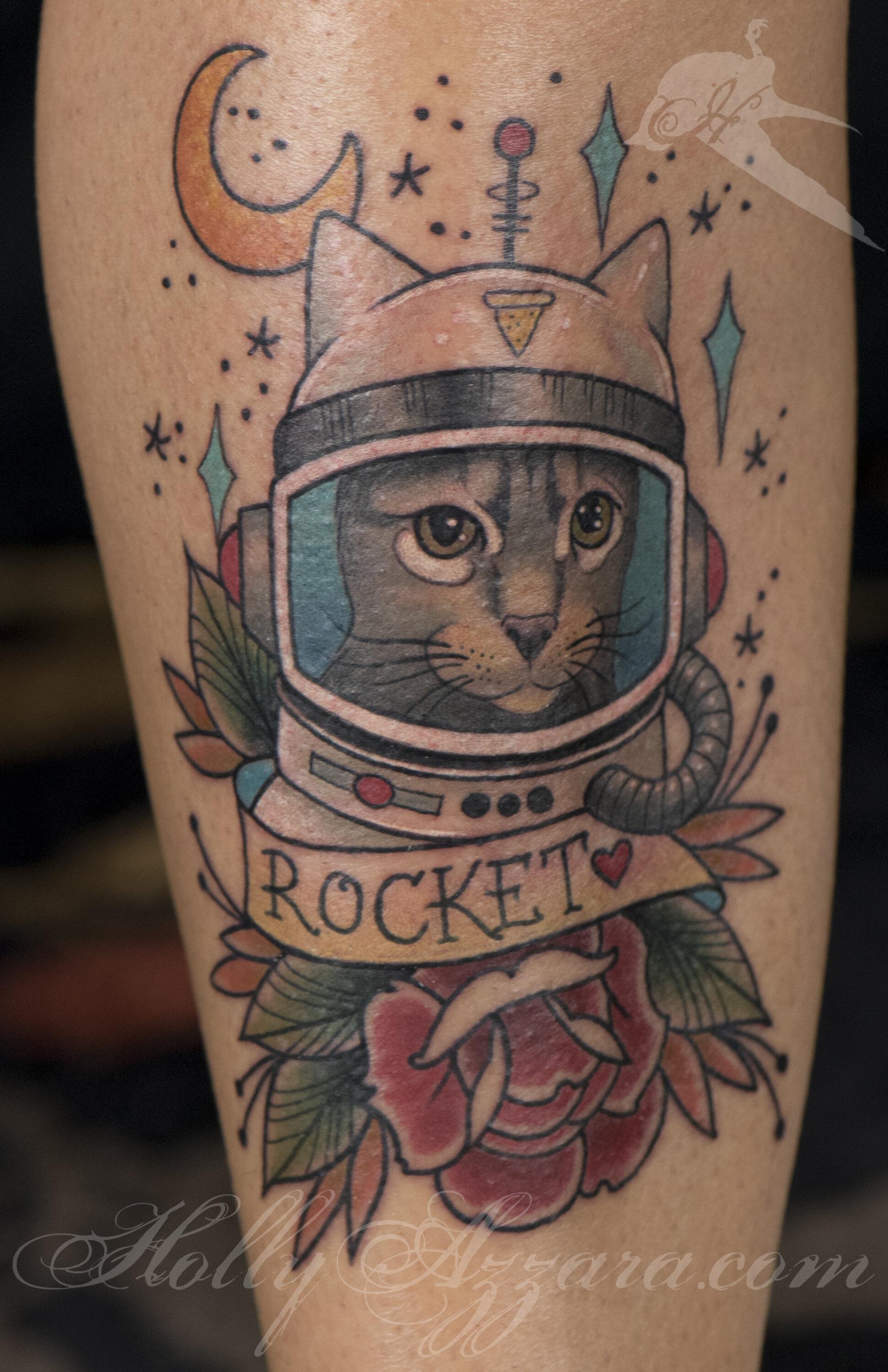 American Traditional Cat Tattoo : american, traditional, tattoo, Fancy, Portrait, Tattoos, Always, Forever, Tattoo, Studio, Holly, Azzara