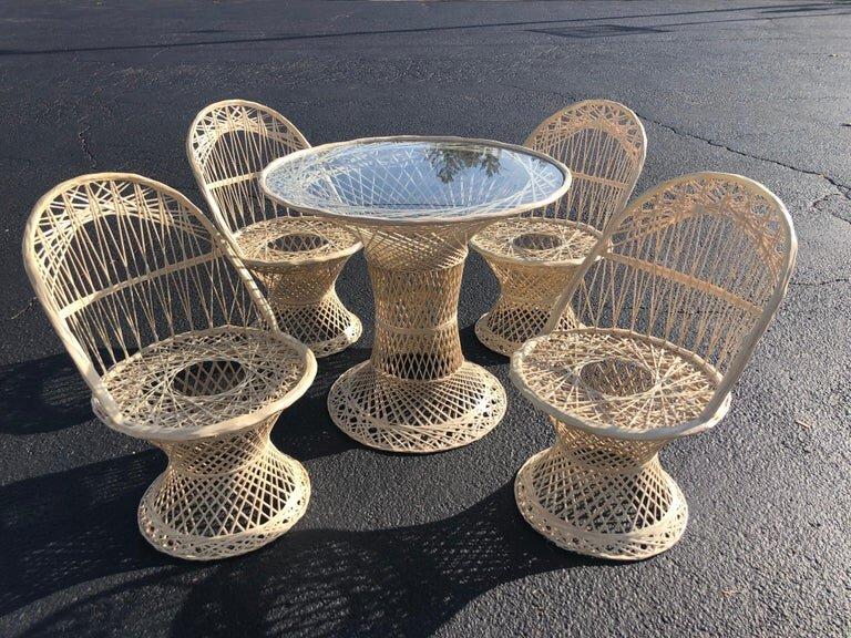 woodard spun fiberglass patio set fleur de lis