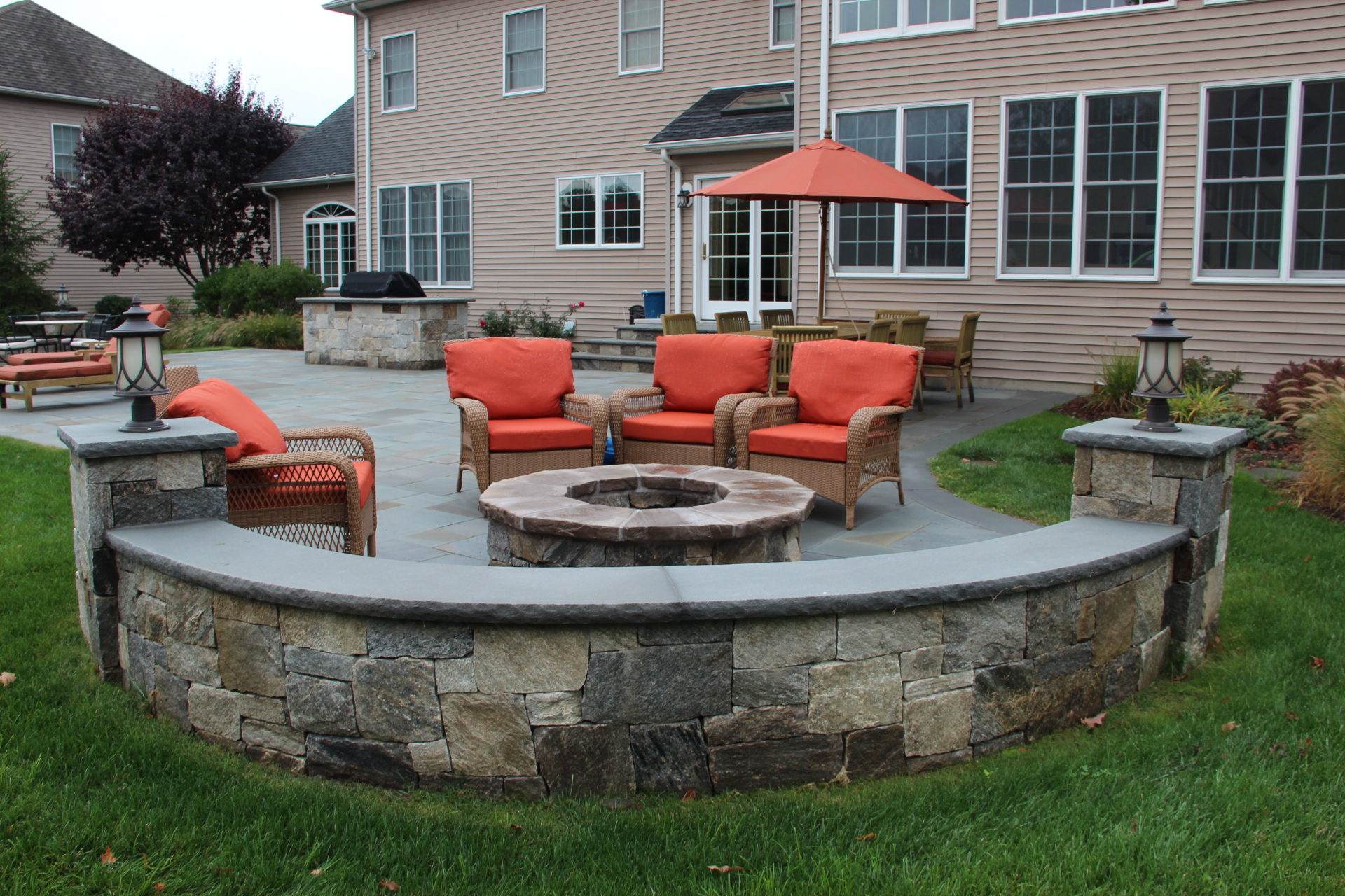 fire pit to your outdoor patio