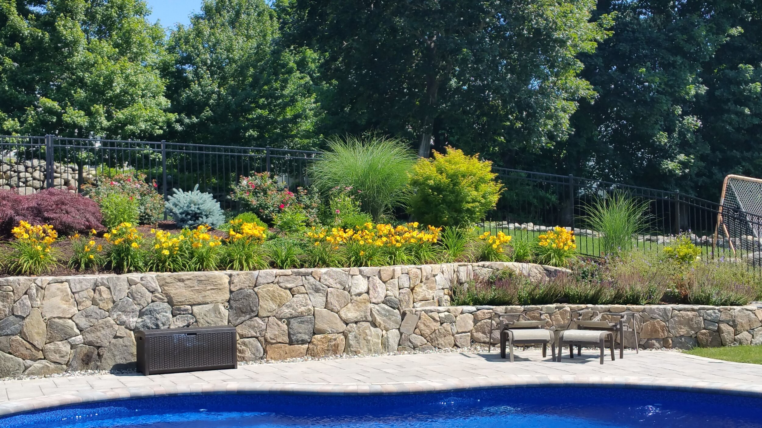 Landscape Design Ideas For Backyards With Natural Surroundings In Westchester County Ny Masonry Patio Lawn Care Westchester County Ny New York Irrigation Yorktown Ny