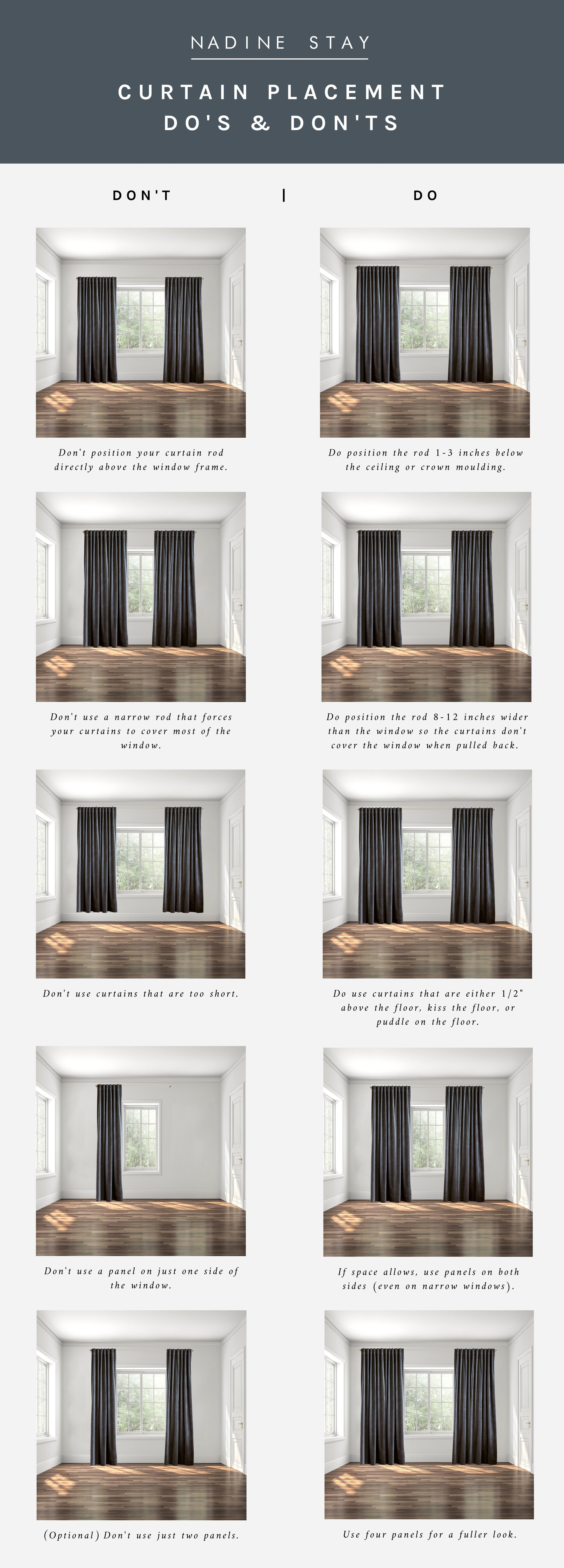 the do s don ts of curtain placement