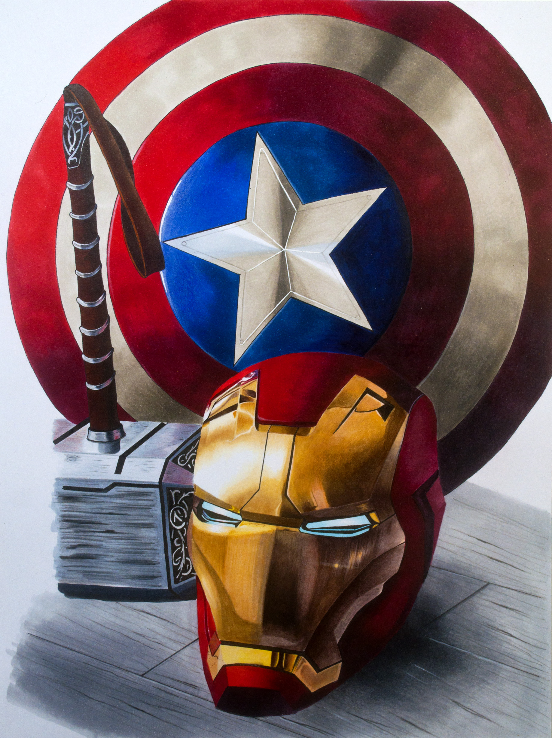 Iron Man Thor And Captain America Art With Arteza Everblend Markers The Art Gear Guide