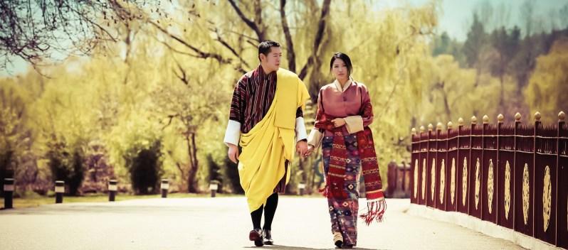 Bhutan Königspaar